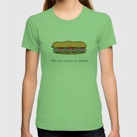 Ceci n'est pas un sandwich Womens Fitted Tee Grass SMALL