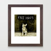 Free hugs  Framed Art Print