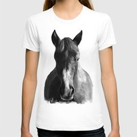 horse T-shirts featuring Horse by Amy Hamilton