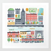 Dublin City Art Print