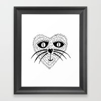 Kitty Love - Heart Cat Framed Art Print