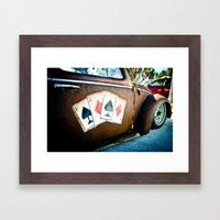 Vw Bug Hood Ride  Framed Art Print