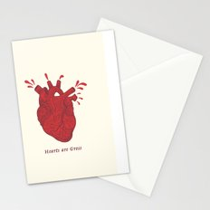 Hearts are Gross Stationery Cards