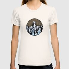 Lincoln Statue Painting Womens Fitted Tee Natural SMALL