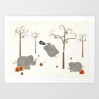 Elephants Shouldn't Clim… Art Print