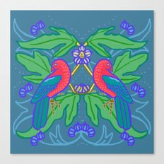 King Parrots and Figs 1 Canvas Print