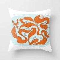 Fox Tail Maze Throw Pillow