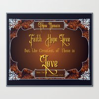 The Greatest Is Love Canvas Print
