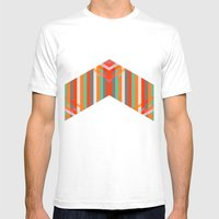 DecoChevron Mens Fitted Tee White SMALL