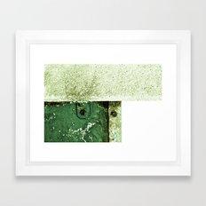White Green Concrete Framed Art Print