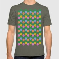 Pineapple Pattern Mens Fitted Tee Lieutenant SMALL