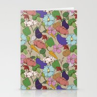 Vegetable Flowers Stationery Cards