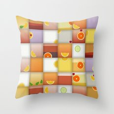 cocktail squares Throw Pillow