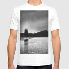 The lonely tree in the sea  White Mens Fitted Tee SMALL