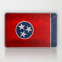 Tennessee State flag, Vintage version Laptop & iPad Skin