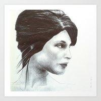 girl 7 Art Print