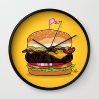 Bacon Cheeseburger Wall Clock