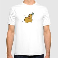 Goat Cheese & Pears Mens Fitted Tee White SMALL