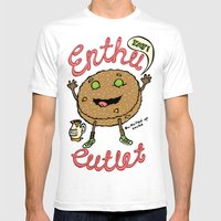 Enthu Cutlet Mens Fitted Tee White SMALL