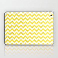 funky chevron yellow pattern Laptop & iPad Skin