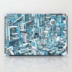City Machine - Blue iPad Case