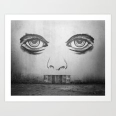 If this wall could talk Art Print