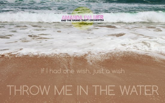 Throw me in the water Art Print