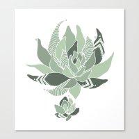 Pattern Succulent Plant Canvas Print