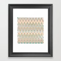 FORMENTERA CHEVRON Framed Art Print