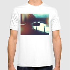 And Again For The Stars Above White Mens Fitted Tee SMALL