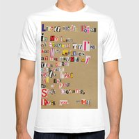 Stale Cigarettes Mens Fitted Tee White SMALL