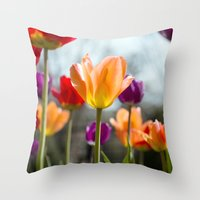 Tulip Dance Throw Pillow