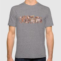 Watercolor Mushrooms Mens Fitted Tee Tri-Grey SMALL