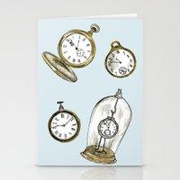 Clocks Stationery Cards