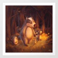Candlemoon Woods Art Print