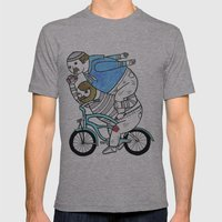 On How Bicycle Riders Ut… Mens Fitted Tee Athletic Grey SMALL
