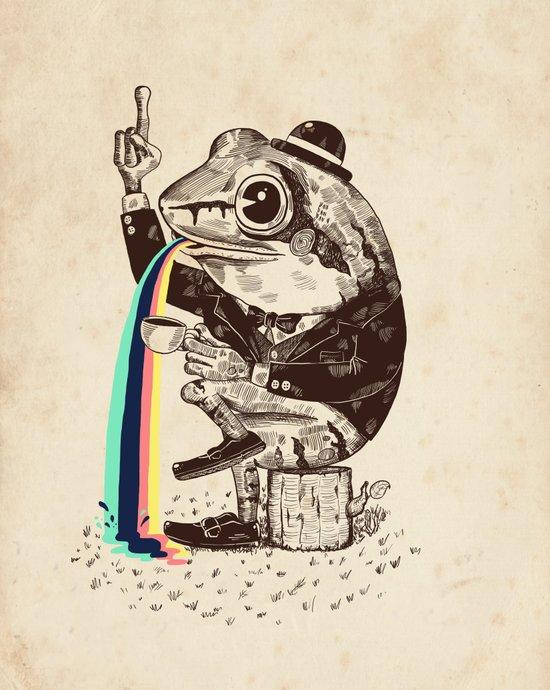 Strange Frog Canvas Print