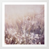 Twigs Polaroid Art Print