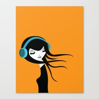 Flow In The Music Canvas Print