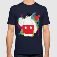 Baymax Mens Fitted Tee Navy SMALL