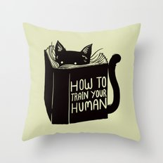 How To Train Your Human Throw Pillow
