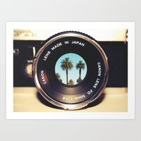 Focus On Palms Art Print