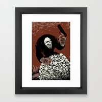 Monkey Skull Suit Framed Art Print