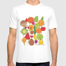 Veggies Fruits SMALL Mens Fitted Tee White