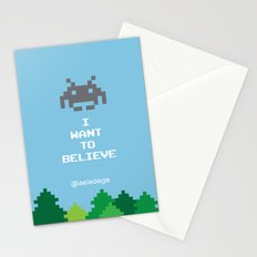 I WANT TO BELIEVE (8 bit) Stationery Cards