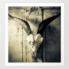 Animal Skull I (Duotone) Art Print