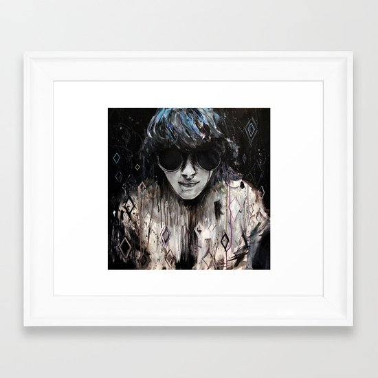 Black Mirror Framed Art Print