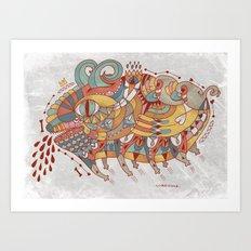 Goat Pig Monster Art Print