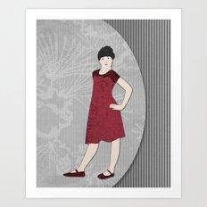 Girls formal wear Art Print
