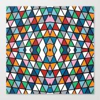 Geo Outline Colour Canvas Print